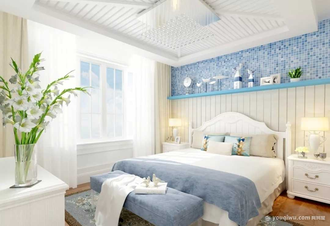 94�O三室一厅地中∩海风格卧室装修效果图