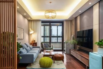中海原山三居室现代简约装修在真仙设计效果图