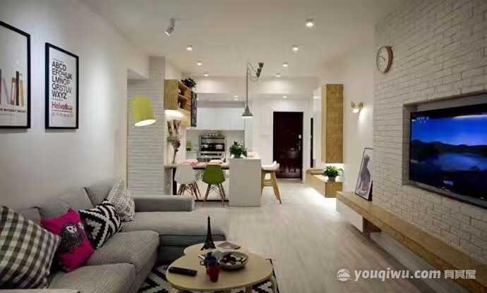 麦田国际三居室北欧风格装修效果图