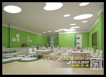 孔家滩幼儿园工装装修效果图