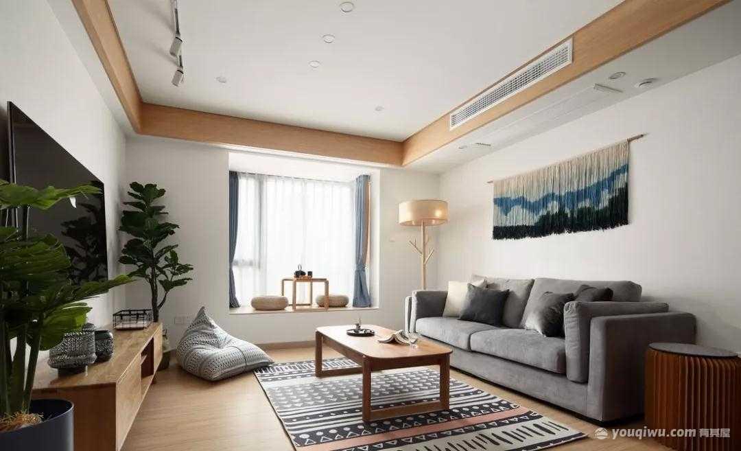115平方米日式三居室装修效果图