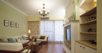 105平米三居室簡約美式風格裝修效果圖