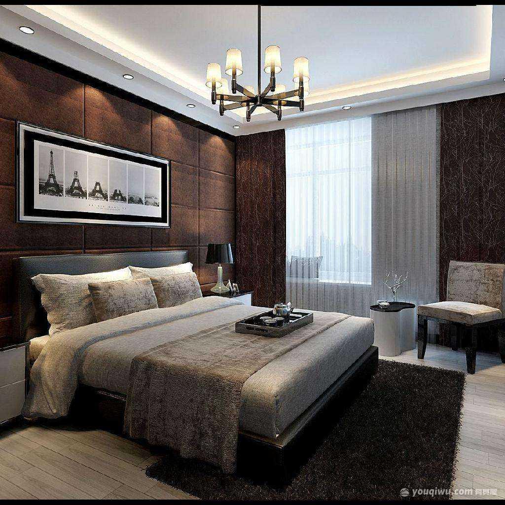 97平米小户型中式卧室装修效果图