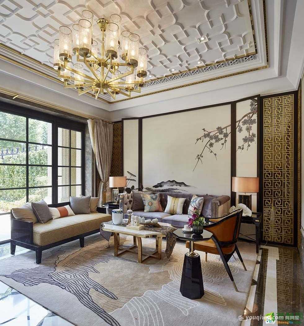 碧桂园360平方米三居室中式风格装修