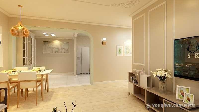 弥勒市二居室北欧简约风格客厅装修效果图