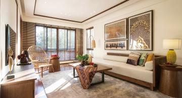 松湖春天两居室东南亚风格装修效果图
