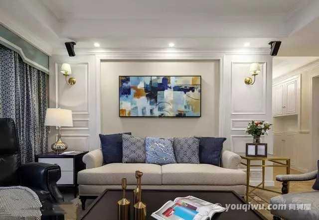 145平方米轻奢典雅现代美式风格装修效果图