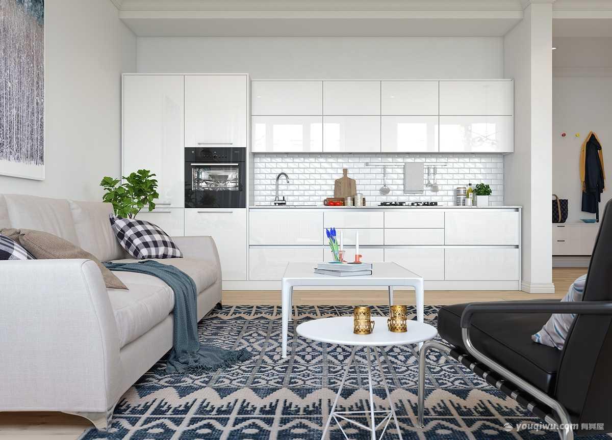 100平米三居室北欧简约风格装修效果图