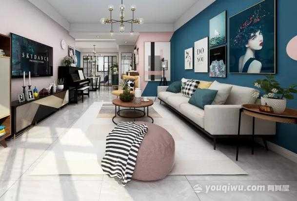 中海碧林湾130平米三居室简约欧式装修效果图