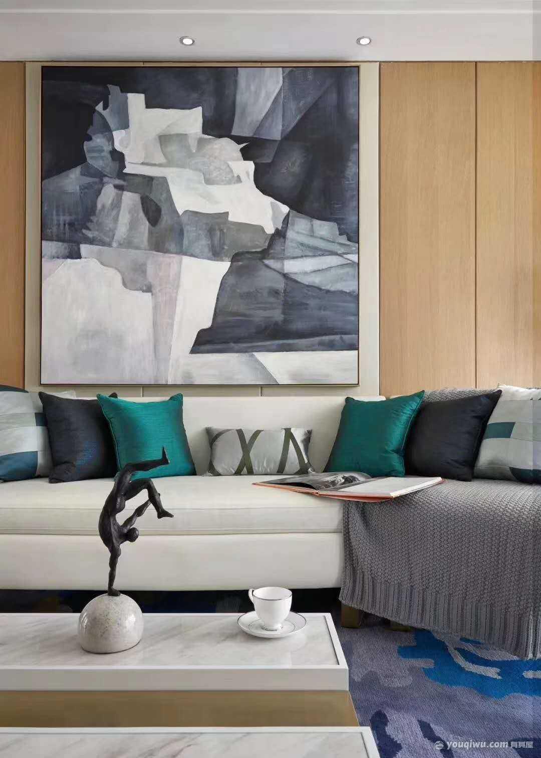 星苏花园130平米三居室简约欧式装修效果图