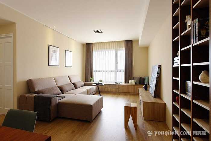 经济实用两室两厅简约风格装修效果图—洛阳捌零玖零装饰
