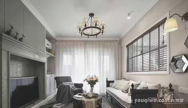 122㎡三居室美式风格装修效果图