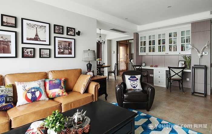 温馨三室两厅现代美式风格装修效果图—洛阳捌零玖零装饰