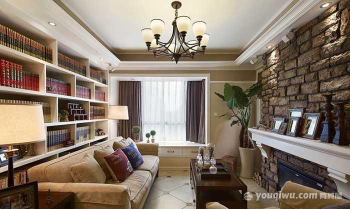98平方米三室一厅美式风格装修效果图—旗云装饰