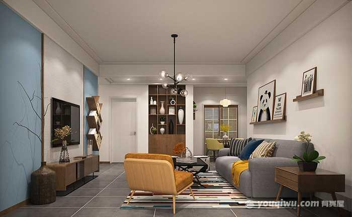 86平方米三室两厅现代风格装修效果图—艺航装饰