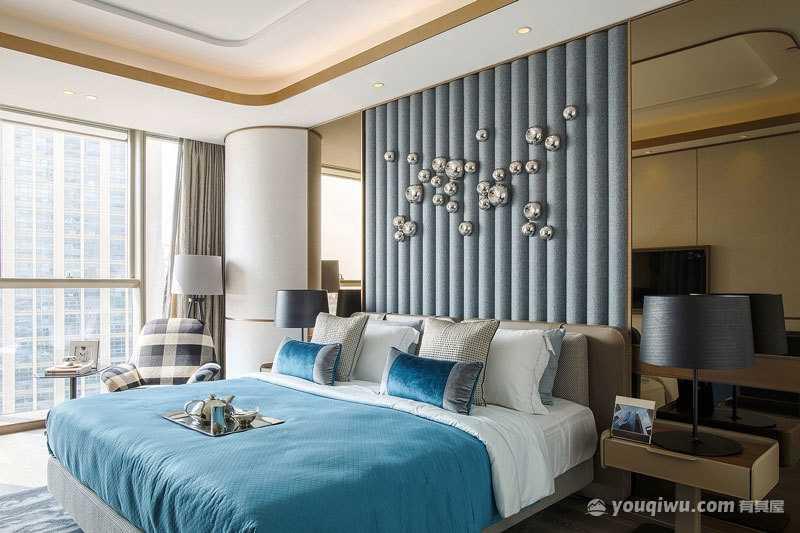 精致简约风格卧室装修效果图—新时代装饰