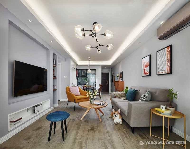 精致典雅客厅欧式风格装修效果图—新时代装饰