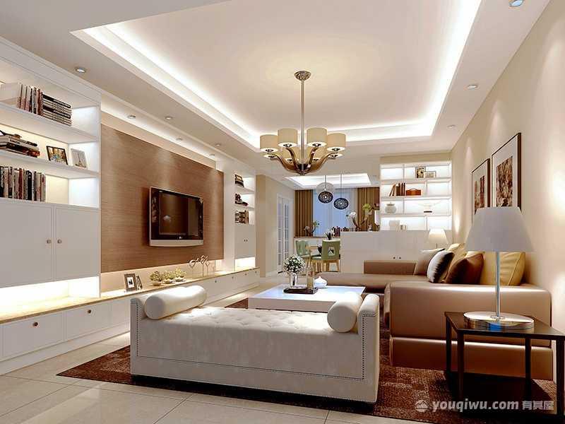 121平方米精装三室两厅简欧风格装修效果图—爱文装饰