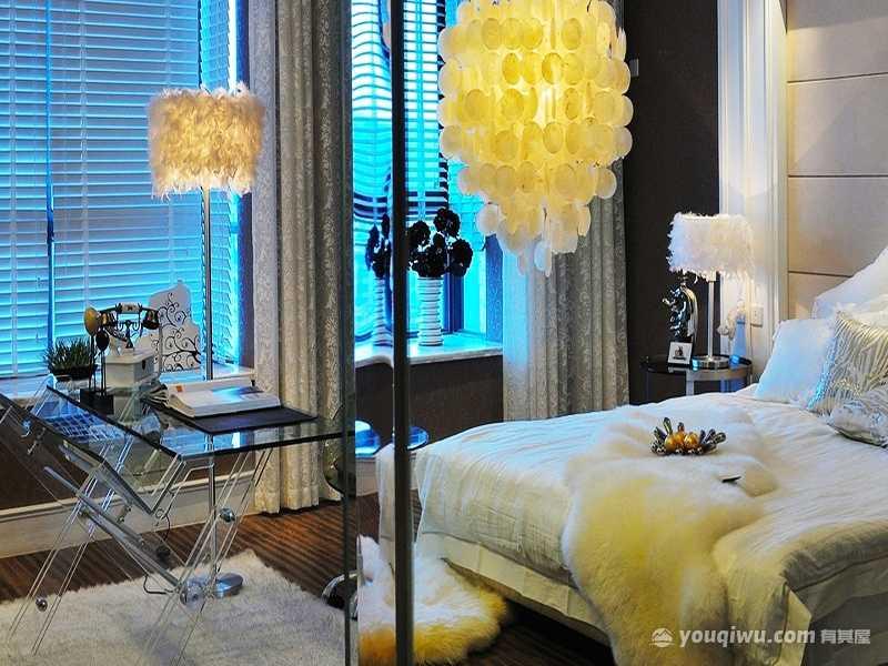 132平方米温馨三室两厅室简欧风格装修效果图—扬州市华浔品味装饰设计工程有限公司