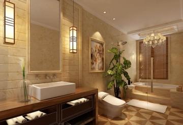 中式风格卫生间装修 ...