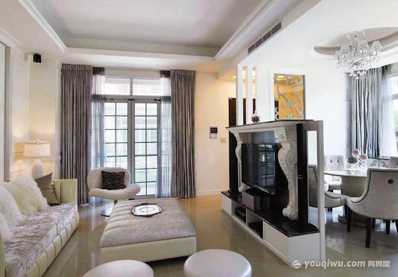 欧式风格客厅装修效果图—济南万泰装饰