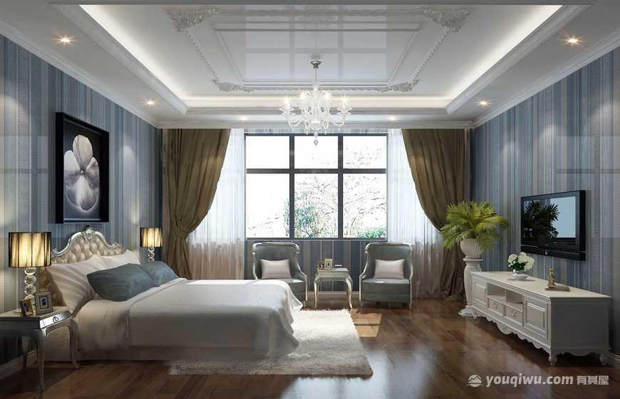 美式风格卧室装修效果图—华美乐