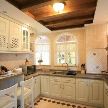 田园风格厨房装修效 ...