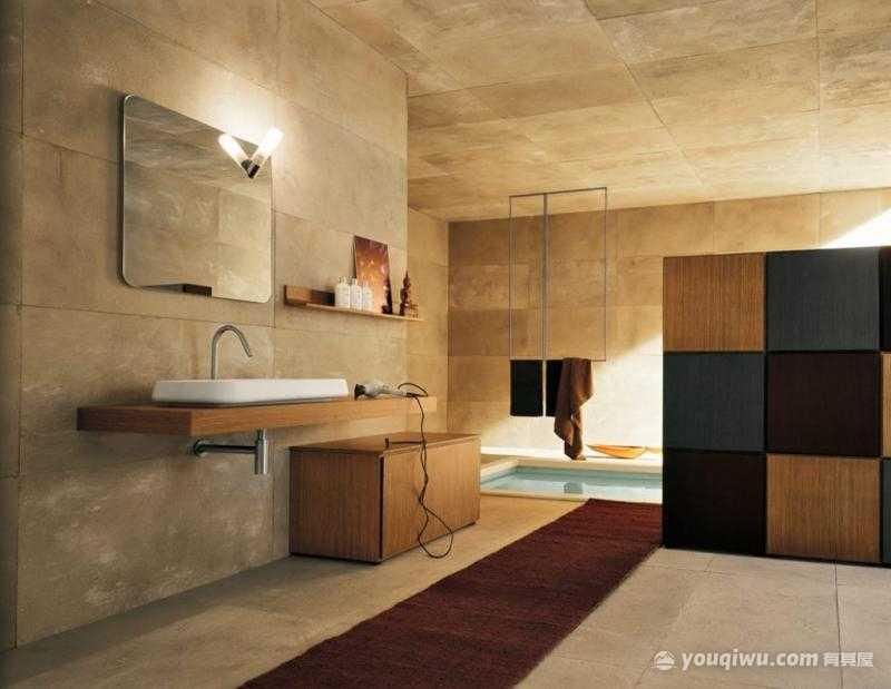 现代风格卫生间装修效果图—龙桦装饰