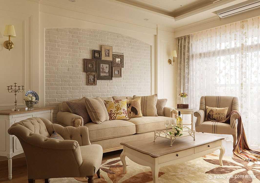 美式风格客厅装修效果图—龙桦装饰