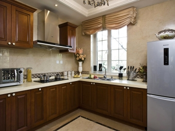 中式风格厨房装修效 ...