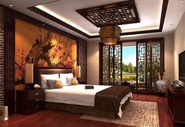 中式风格卧室装修效 ...