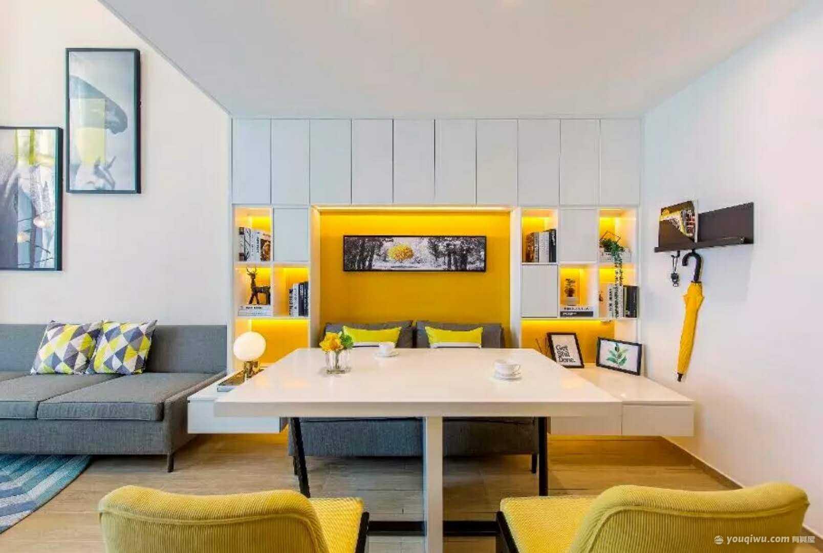 105平方米现代简约风格装修效果图—炬点装饰