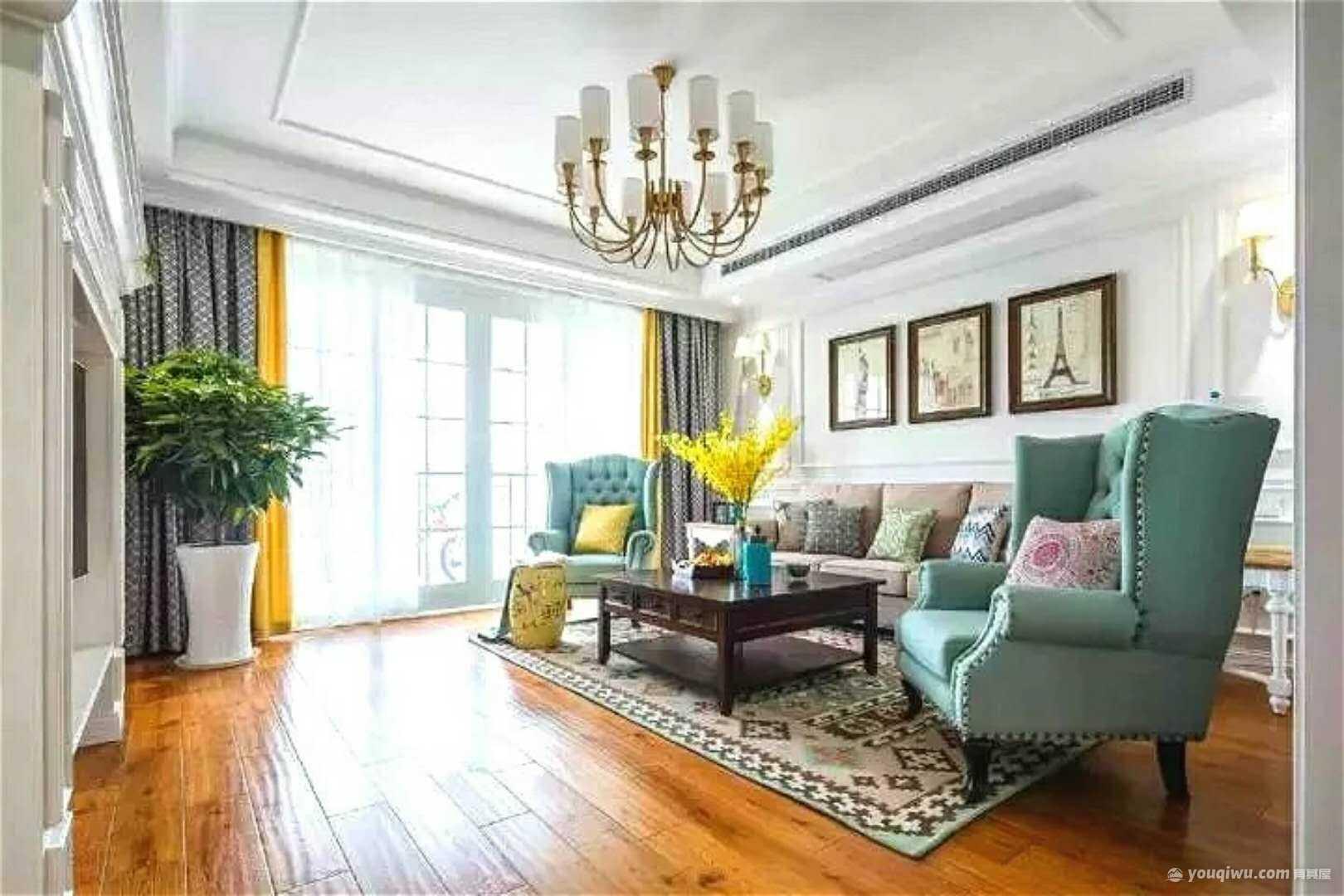 113平方米美式风格装修效果图—金阳光装饰
