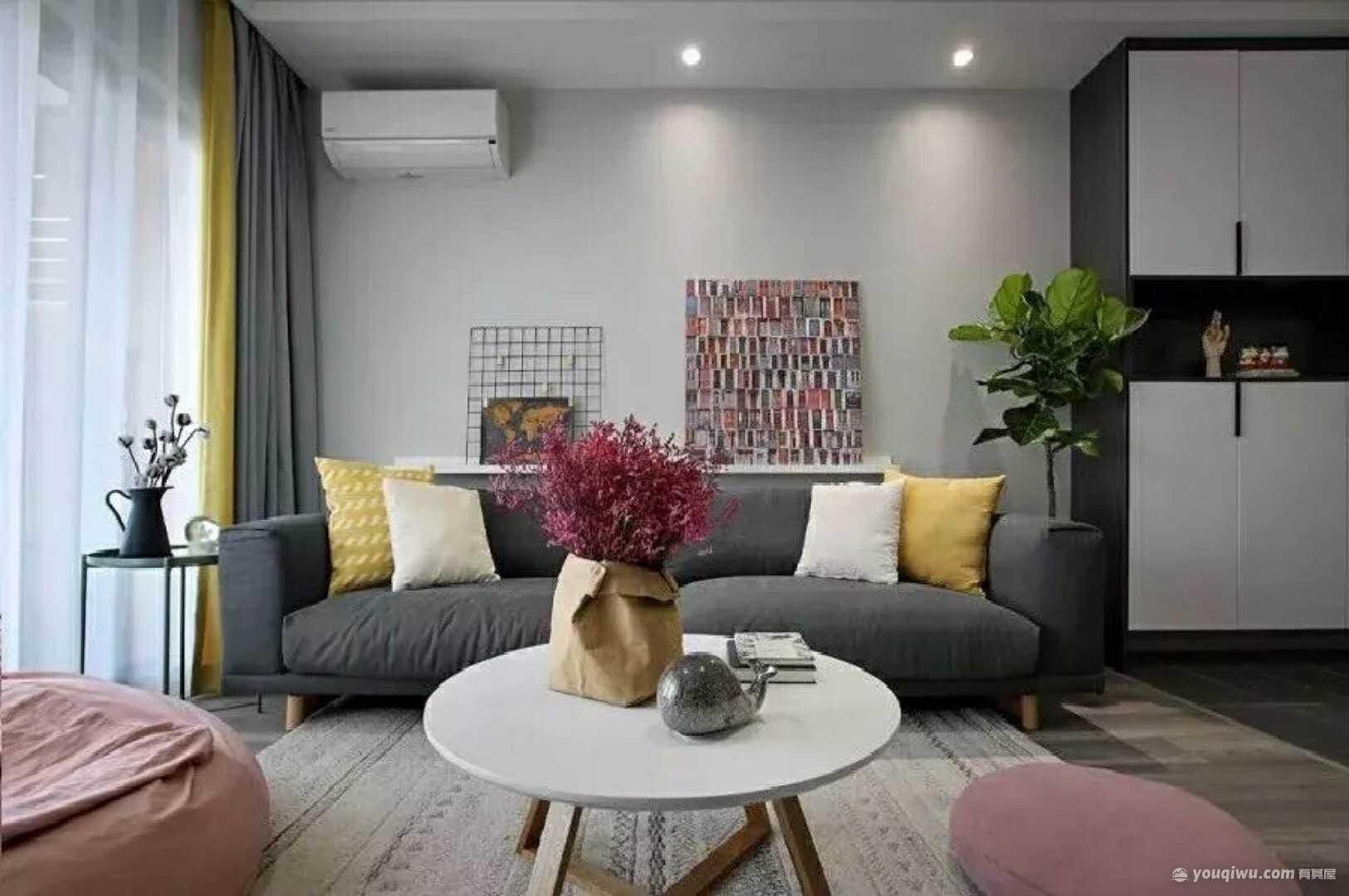 89平方米现代简约风格装修效果图—景盛装饰