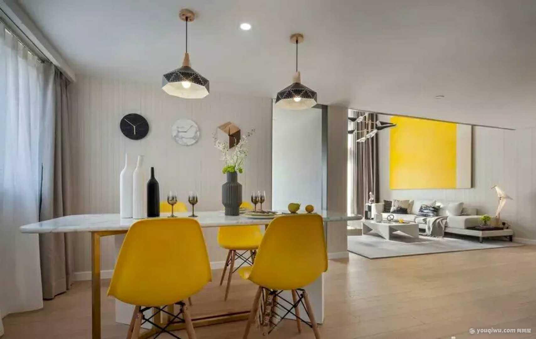 103平方米现代风格装修效果图—东方筑