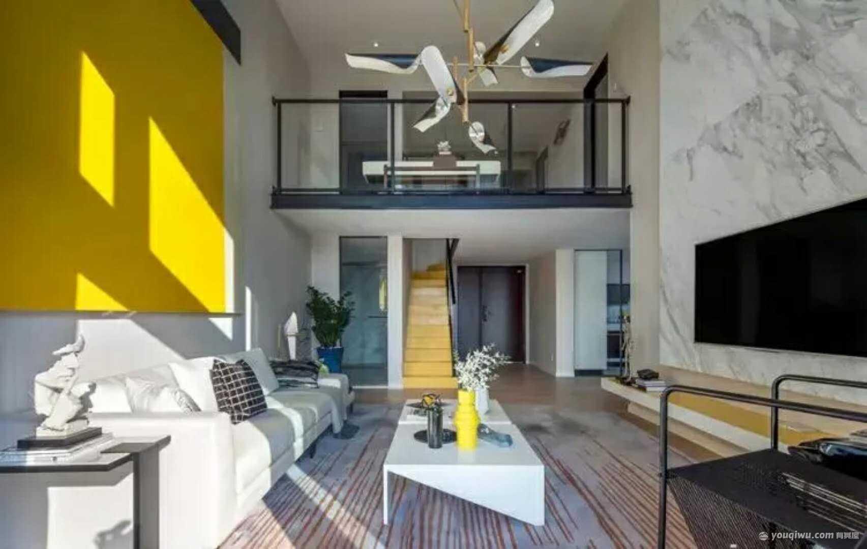 189平方米复试楼现代简约风格装修效果图—锦艺装饰