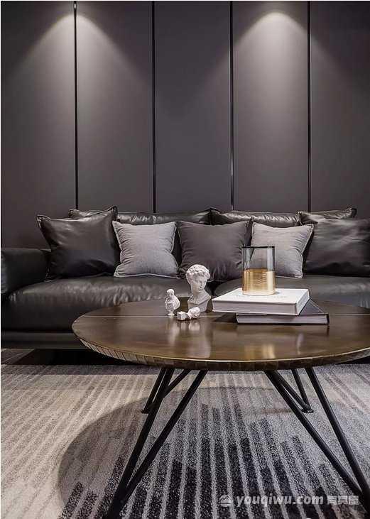 万科蓝山89平方米三室一厅平木色简约风格装修效果图