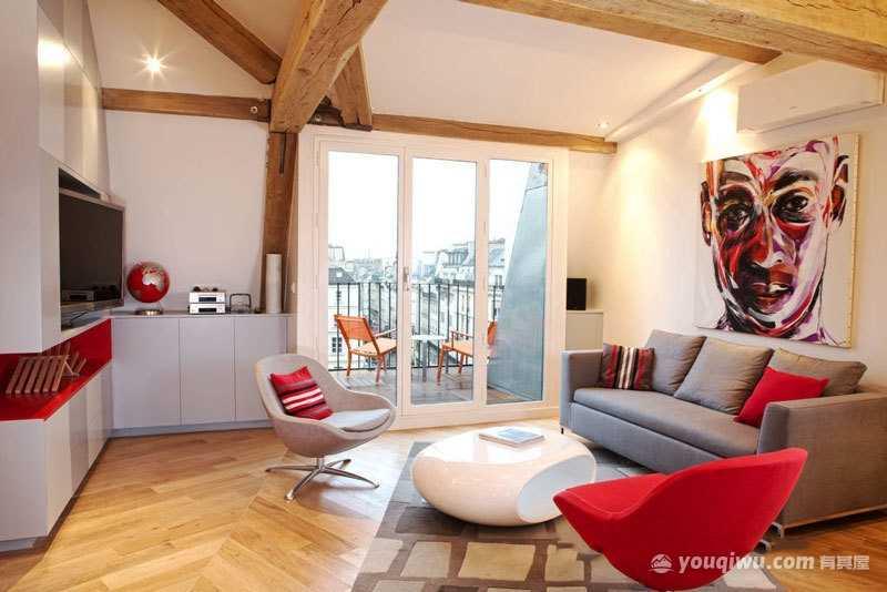 现代风格客厅装修效果图—大川装饰