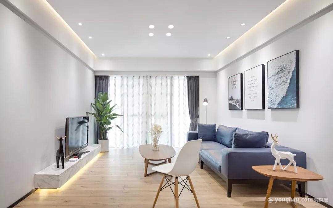 140平方米三室一厅现代简约风格装修效果图—典尚装饰