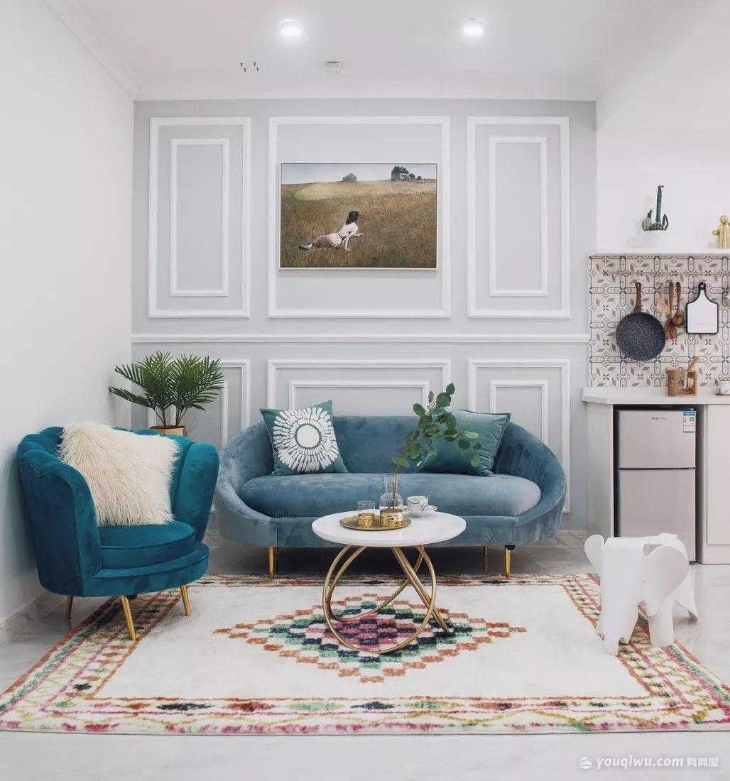 94平方米美式风格装修效果图—石家庄三创装饰