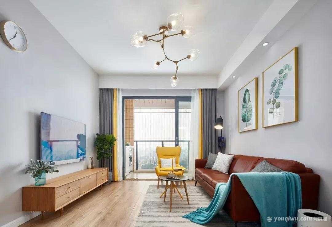 88平方米小四房北欧风格装修效果图—潍坊城市人家