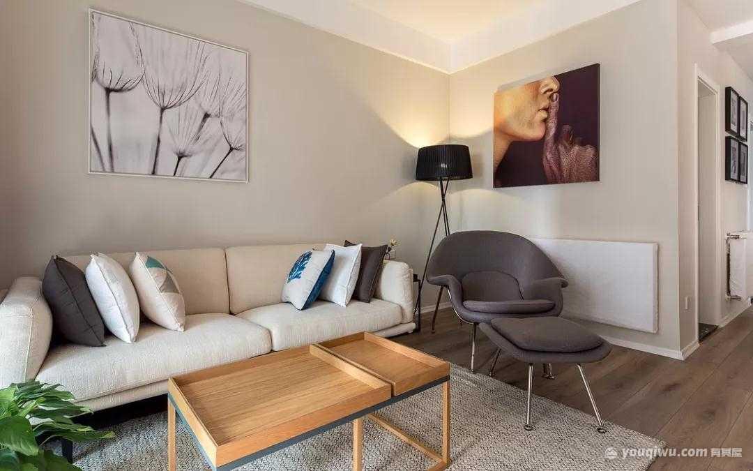 92平方米现代简约风格装修效果图—石家庄三创装饰