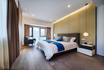 现代风格卧室装修效 ...