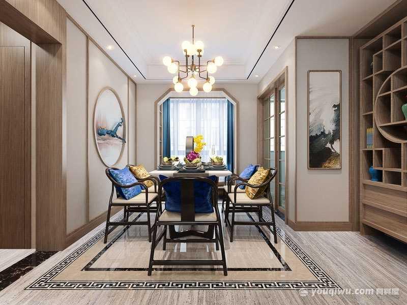 中式风格餐厅装修效果图—廊坊宬诺装饰