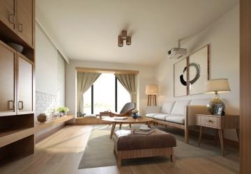 日式风格客厅装修效 ...