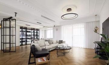 天一城130平米舒适混搭三居室装修效果图