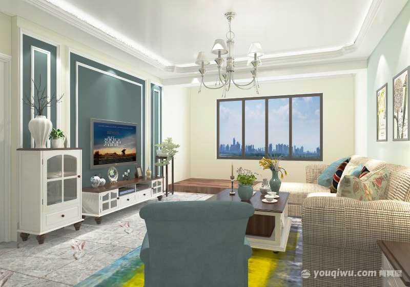 星河湾两室一厅现代简约风格装修效果图
