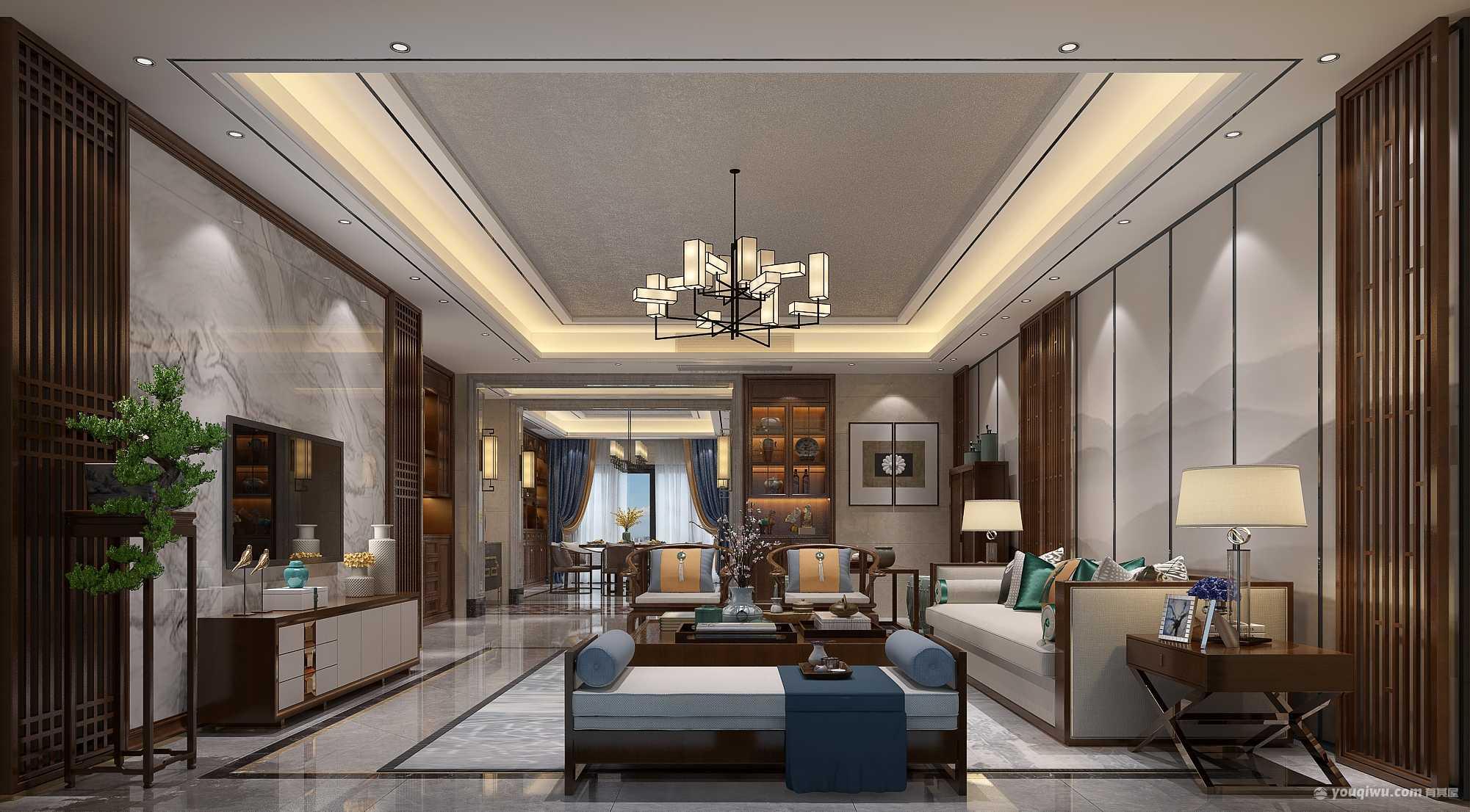 新怡豪门135平米四居室豪华装修效果图