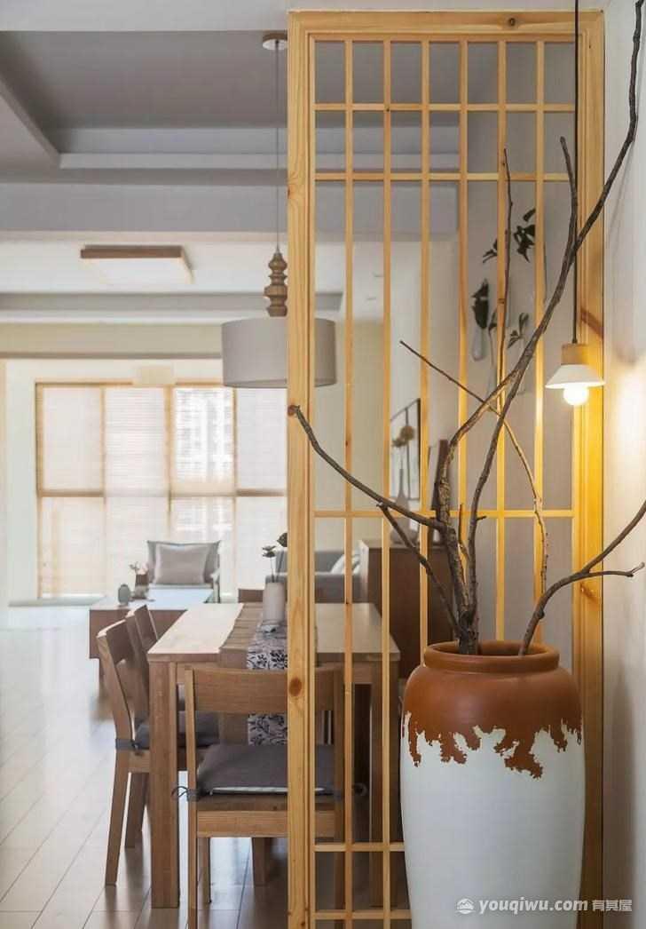 丽景苑100平米木色系清爽简约三居室装修效果图