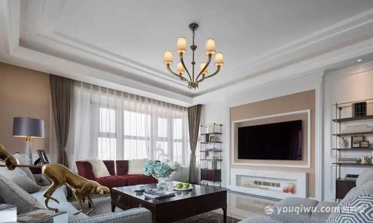 富力湾185平米四居室新美式装修效果图